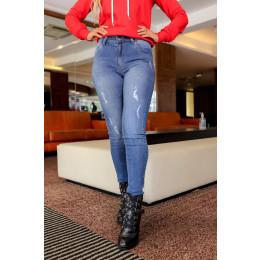 Calça Jeans Atacado Cigarrete Feminina Revanche Katiucia Azul Frente