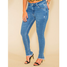 Calça Jeans Atacado Cigarrete Feminino Revanche Sylvere Frente
