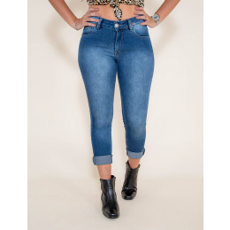 Calça Jeans Atacado Cigarrete Hot Pants Feminina Revanche Timbu Frente