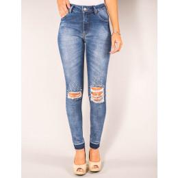 Calça Jeans Atacado Cigarrete Perola Feminina Revanche Charlotte Frente