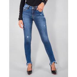 Calça Jeans Atacado Cigarrete Ziper na Barra Feminino Revanche Vicenza Frente