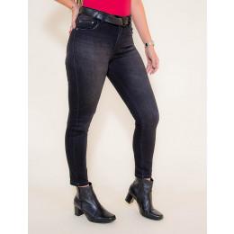 Calça Jeans Atacado Cropped Black Feminina Revanche Siria Frente