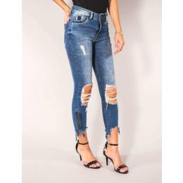 Calça Jeans Atacado Cropped Feminina Revanche Catania Frente