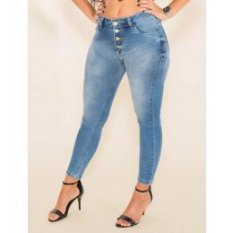 Calça Jeans Atacado Cropped Feminino Revanche  Adilene Frente