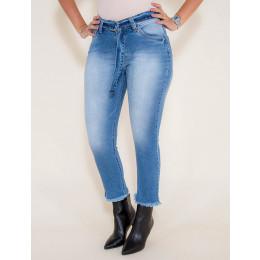 Calça Jeans Atacado Cropped Mom Jeans Feminina Revanche Chipre  Frente