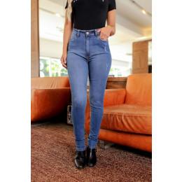 Calça Jeans Atacado Fit Belt Feminina Revanche Beatrice Azul Frente