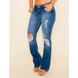 Calça Jeans Atacado Flare Feminino Revanche Ivonna Frente