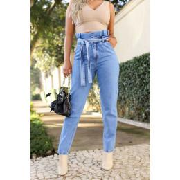 Calça Jeans Atacado Mom Feminina Revanche Tasha Azul Frente
