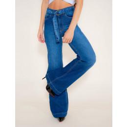 Calça Jeans Atacado Pantalona Feminina Revanche Asgabate Frente