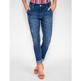 Calça Jeans Atacado Cigarrete Bolso Faca Feminina Revanche Papua Frente