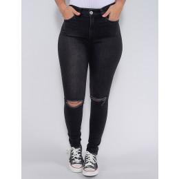 Calça Jeans Atacado Cigarrete Cinta Feminina Revanche Fit Belt 5 Preto Frente