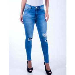 Calça Jeans Atacado Cigarrete Destroyed Feminina Revanche Ancara Frente