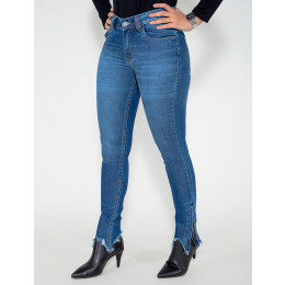 Calça Jeans Atacado Cigarrete Feminina Revanche Aalase Frente