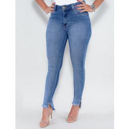 Calça Jeans Atacado Cigarrete Feminina Revanche Adalene Azul Frente