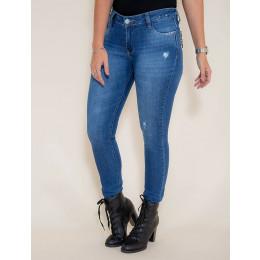 Calça Jeans Atacado Cigarrete Feminina Revanche Bucareste Azul Frente