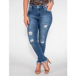 Calça Jeans Atacado Cigarrete Feminina Revanche Duchambé Azul Palito Frente