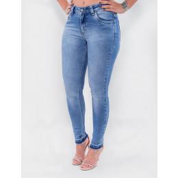 Calça Jeans Atacado Cigarrete Feminina Revanche Somália Azul Frente