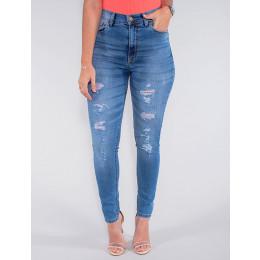 Calça Jeans Atacado Cigarrete Hot Pants Feminina Revanche Luxemburgo Azul Frente