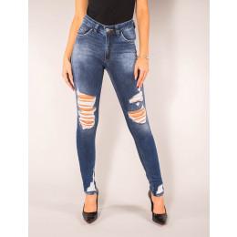 Calça Jeans Atacado CigarreteDestroyed Feminina Revanche Memphis Frente