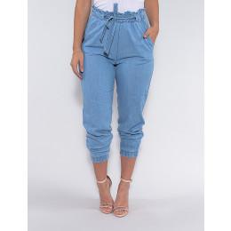 Calça Jeans Atacado com Elástico Feminina Revanche Linette Azul Frente