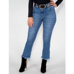 Calça Jeans Atacado Cropped Feminina Revanche Montevideu Frente