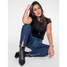 Calça Jeans Atacado Cropped Feminina Revanche Seri Frente