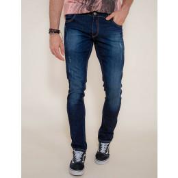 Calça Jeans Atacado Escura com Ziper no Bolso Masculino Revanche Santiago Frente