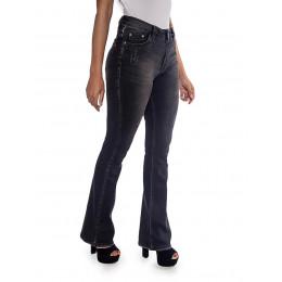Calça jeans Atacado Flare Black Feminino Revanche Angilia  Lateral