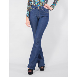Calça Jeans Atacado Flare Escura Amaciada Feminina Revanche Malé Frente