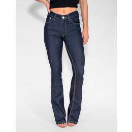 Calça Jeans Atacado Flare Escura Feminina Revanche Guiné Frente