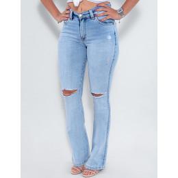 Calça Jeans Atacado Flare Feminina Revanche Cherine Azul Frente