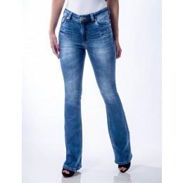 Calça Jeans Atacado Flare Feminina Revanche Dublim Frente