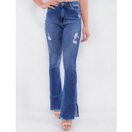 Calça Jeans Atacado Flare Feminina Revanche Granadinas Azul Frente