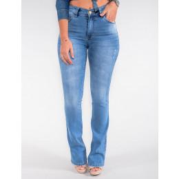 Calça Jeans Atacado Flare Feminina Revanche México Azul Frente