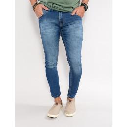 Calça Jeans Atacado Reta Masculina Revanche Corbeau Azul Frente
