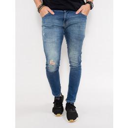 Calça Jeans Atacado Skinny Masculina Revanche Cheney Azul Frente