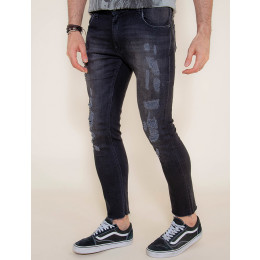 Calça Jeans Atacado Super Skinny Black Masculina Revanche Bandar Frente