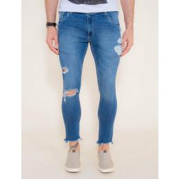 Calça Jeans Atacado Super Skinny Cropped Masculina Revanche Hungary Frente