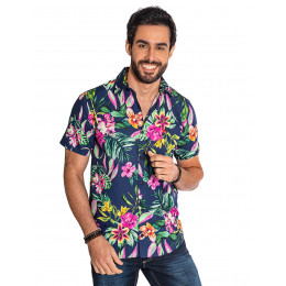 Camisa Atacado Florida Manga Curta Masculina Revanche Havai II Frente
