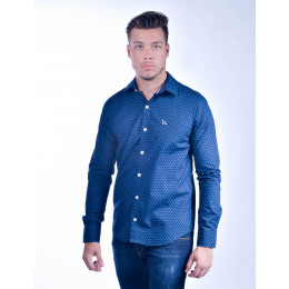 Camisa Atacado Manga Longa com Micro Estampas Masculino Revanche Konja Frente