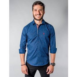 Camisa Atacado Manga Longa Microestampada Masculino Revanche Austin Frente
