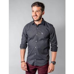 Camisa Atacado Manga Longa Microestampada Masculino Revanche Dallas Frente A