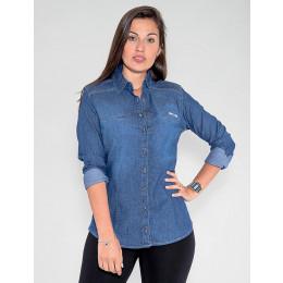 Camisa Jeans Atacado Feminina Revanche Aústria Frente