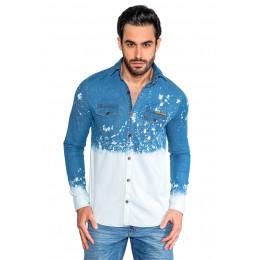 Camisa Jeans Atacado Tie Die Masculina Revanche Verona Frente
