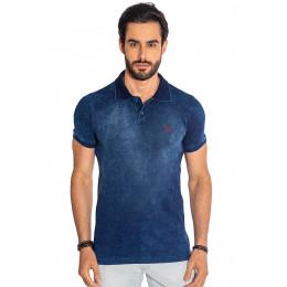 Camisa Polo Atacado Basica Masculino Revanche Modena Azul Marinho Frente