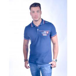 Camisa Polo Atacado com Bordado Masculino Revanche Oslo Azul Marinho Frente