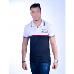 Camisa Polo Atacado com Bordado Masculino Revanche Polonia Branca Frente