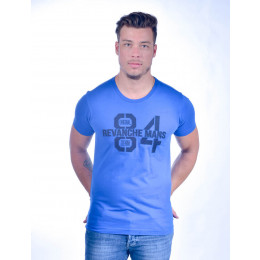 Camiseta Atacado Bordada Masculina Revanche O. Denim 84 Azul Costas