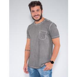 Camiseta Atacado c/ Bolso Masculina Revanche Lituânia Vermelho Frente