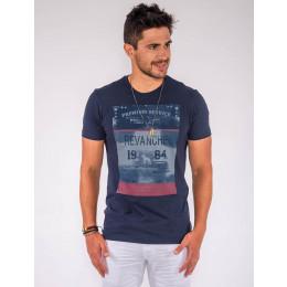 Camiseta Atacado c/ Estampa Masculina Revanche First Level Branco Frente